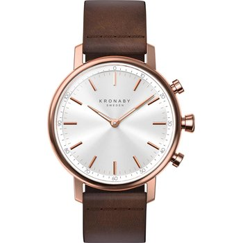 KRONABY SWEDEN CONNECTED Carat Brown Leather Strap