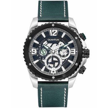 QUANTUM Men's Green Leather