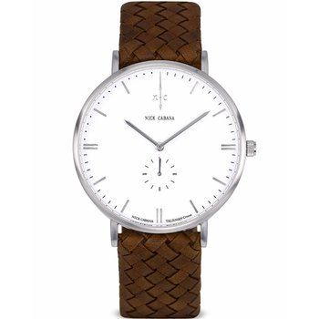 NICK CABANA Talisman Cruise Brown Leather Strap