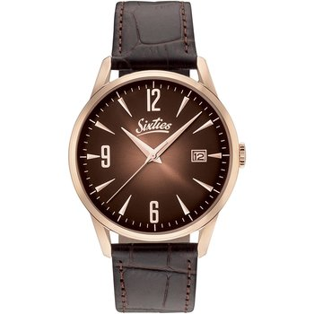 SIXTIES Brown Leather Strap