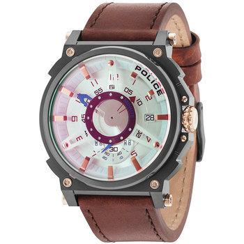POLICE Compass Brown Leather