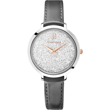 PIERRE LANNIER Ladies Swarovski Black Leather Strap