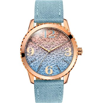 BREEZE Jeanious Swarovski Light Blue Combined Materials Strap