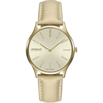 HANOWA Pure Gold Leather Strap