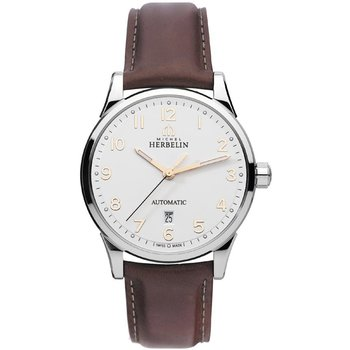 MICHEL HERBELIN Classic Brown Leather Strap