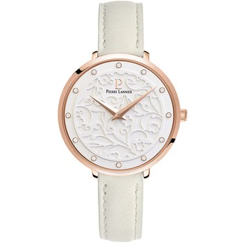 PIERRE LANNIER Eolia Crystals Beige Leather Strap