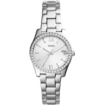 FOSSIL Scarlette Crystals Silver Stainless Steel Bracelet