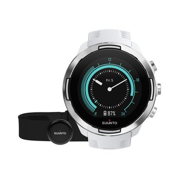 Suunto 9 Baro White Silicone Strap with Suunto HR Smart Sensor