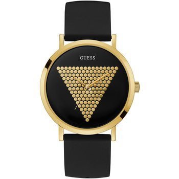 GUESS Triangle Black Silicone