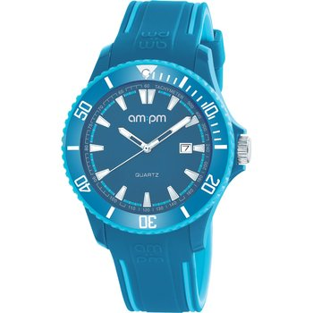 AM:PM Club Blue Silicone Strap