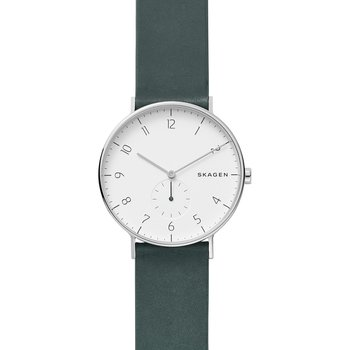SKAGEN Aaren Green Leather
