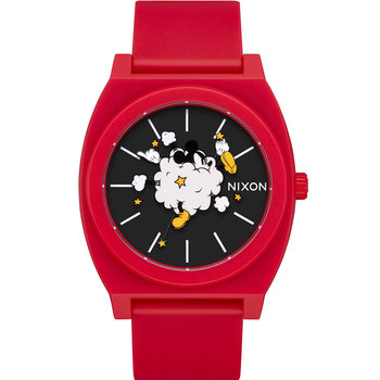 NIXON Time Teller Dust Up Red Combined Materials Strap