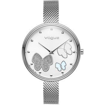 VOGUE Papillons II Crystals Silver Stainless Steel Bracelet