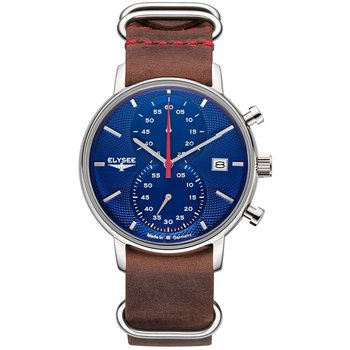 ELYSEE Minos Chronograph Brown Leather Strap