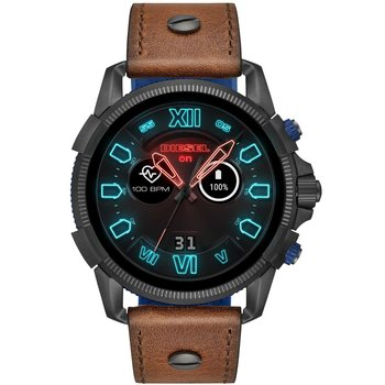 DIESEL On Full Guard Brown Leather Strap