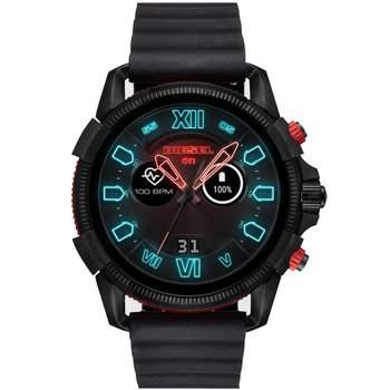 DIESEL On Full Guard Black Silicone Strap