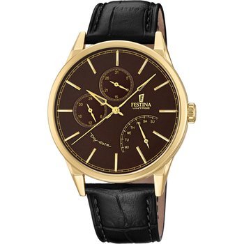 FESTINA Retro Black Leather