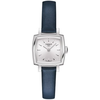 TISSOT T-Lady Lovely Square Blue Leather Strap