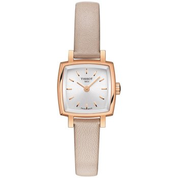 TISSOT T-Lady Lovely Square Beige Leather Strap