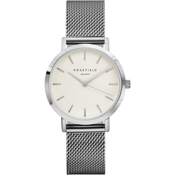 ROSEFIELD The Tribeca Silver Stainless Steel Bracelet