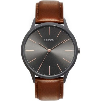 LE DOM Classic Brown Leather Strap
