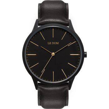 LE DOM Classic Black Leather Strap