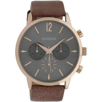 OOZOO Chrono Brown Leather Strap