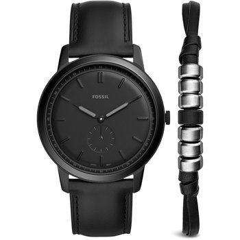 FOSSIL The Minimalist Black Leather Strap Gift Set