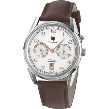 LIP Himalaya Automatic Brown Leather Strap