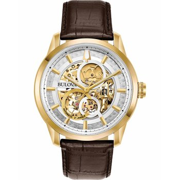 BULOVA Mechanical Collection Automatic Brown Leather Strap