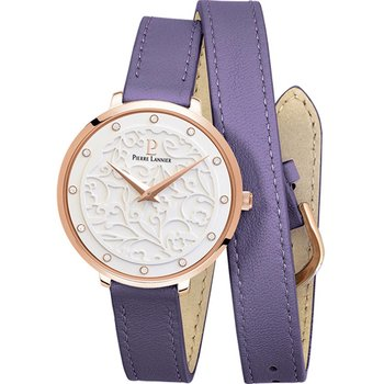 PIERRE LANNIER Eolia Crystals Purple Leather Strap
