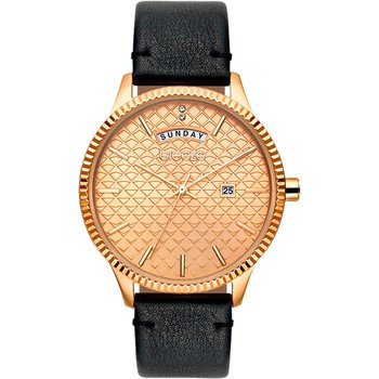 BREEZE Jackie Wow Crystals Black Leather Strap