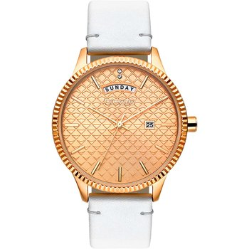BREEZE Jackie Wow Crystals White Leather Strap