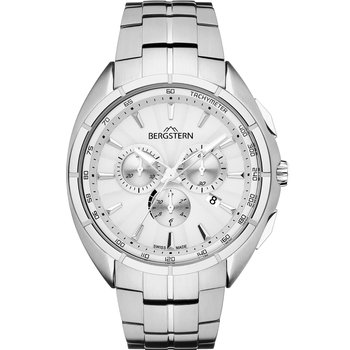 BERGSTERN Active Chronograph Silver Stainless Steel Bracelet