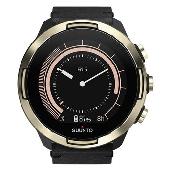 SUUNTO 9 Baro Gold with Black Leather Strap