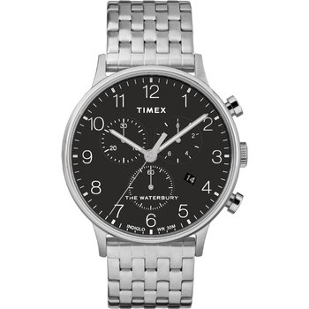 TIMEX Waterbury Chronograph Silver Stainless Steel Bracelet