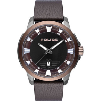 POLICE Kelso Brown Leather