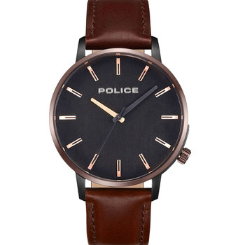 POLICE Marmol Brown Leather