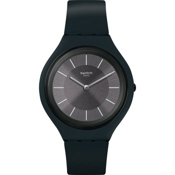 SWATCH Skincharbon Black Silicone Strap