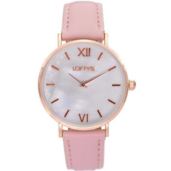LOFTY'S Vintage Pink Leather Strap