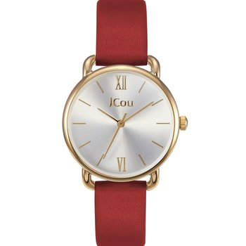 JCOU Charm Red Leather Strap