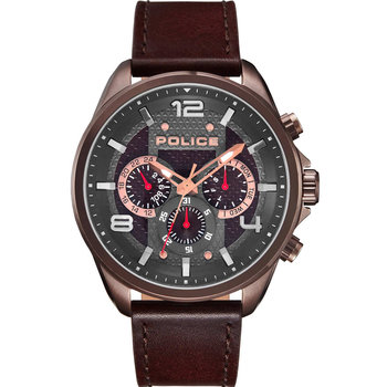 POLICE Durdle Brown Leather