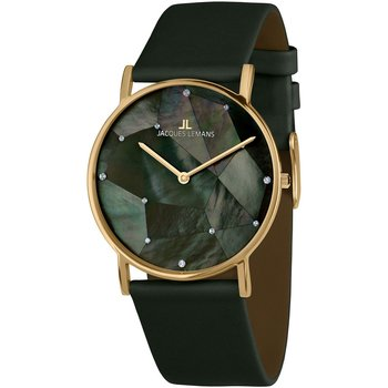 Jacques LEMANS York Crystals Green Leather Strap