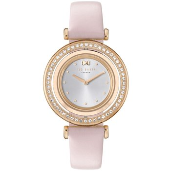 TED BAKER Brooke Crystals Pink Leather Strap