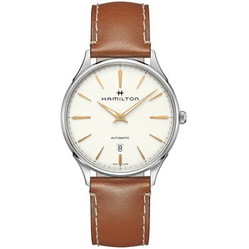 HAMILTON Jazzmaster Thinline Automatic Brown Leather Strap