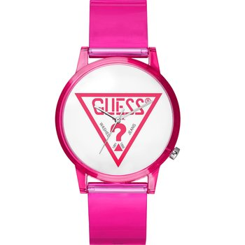 GUESS Ladies Pink Silicone