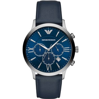 Emporio ARΜΑΝΙ Giovanni Chronograph Blue Leather Strap