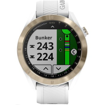 GARMIN Approach S40 Golf Watch with White Silicone Band