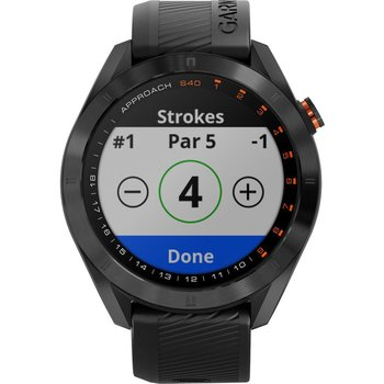 GARMIN Approach S40 Golf Watch Black Silicone Band and Approach CT10 3-pack Bundle