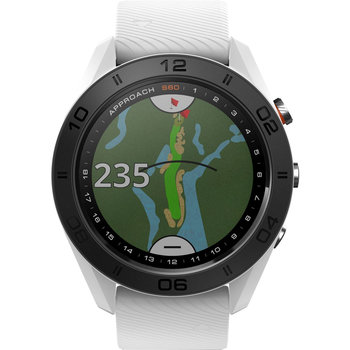 GARMIN Approach S60 Golf Watch with White Silicone Strap
